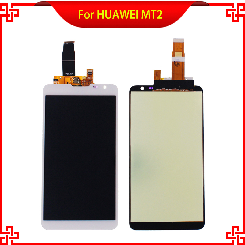 5PC/Lot High Quality 6.1 Original LCD Display Touch Screen For HUAWEI MT2 MT 2 Tested White Mobile Phone LCDs Free Shipping<br><br>Aliexpress