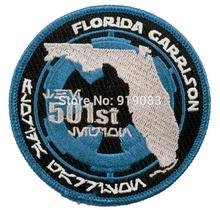 "3.5"" Star Wars 501st Legion Florida Garrison patch tv movie Embroidered Iron On Badge transfer Halloween Cosplay Costume"