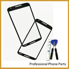 10 pcs /Lot, For Motorola Google Nexus 6 XT1100 XT1103 Front Outer Screen Touch Glass Lens Replacement(China)