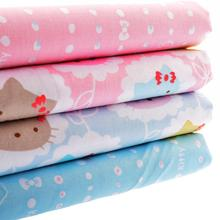 Cotton Fabric Telas For Handmade Patchwork Sewing Cloth For Craft Skirt Crafts Bag Doll Curtain For 4 Design Hello Kitty 40x50cm