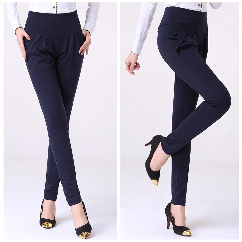 New Autumn Women Casual Loose High Waist Harem Pants Ladies Office Pants Plus Size Trousers S~4XL 5XL 6XL Blue Red Khaki Brown 6