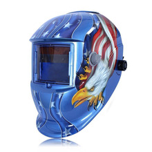 1/5 Colors Solar Auto Darkening Welding Helmet eagle Mask Grinding Function(China)