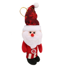 Christmas Doll Santa Claus/Snow Men/Deer Cute Plush Doll For Christmas Party Tree Accessories For Kids Best Gift CX880430(China)