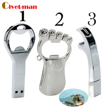 Hot sale Beer bottle opener key chain usb flash Drive Memory Stick Drives64GB 8GB 4GB usb /pen / car/flash Free Shipping