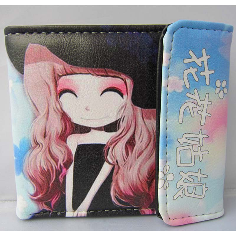 New Arrival: Comics Chinese Elegant Flower Girl Folding PU Short Wallet/Colorful Button Purse : Violet Girl<br><br>Aliexpress