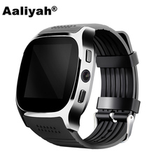 Aaliyah T8 Bluetooth Smart Watch Men With Camera Call Facebook Whatsapp Support SIM TF Card Smartwatch For Android PK M26 DZ09(China)