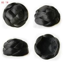 9CM Fashion New Clip in Bun Hair Chignon Bun Wig Hair Ponytail Drawstring Bun Hairpieces Pony Tail Hair Chignon A5(China)