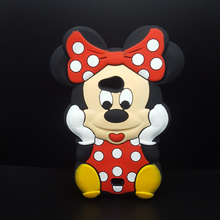 3D Cartoon Minnie Mickey Mouse Bow-knot soft Silicone Case For Nokia Microsoft Lumia 535 N535 Rubber cover shell phone cases