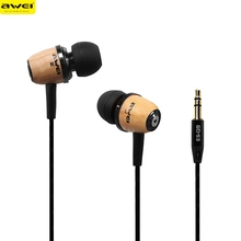 Headphone hot sell Original AWEI Q9 Headset Super Bass Wooden Headphone In-Ear Earphone For Phone/PC/MP3 top quality jan13