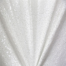 4ftx6.5ft(120cmx195cm) White Shimmer Sequin Fabric Photography Backdrop Sequin Curtain for Wedding/ Party Stage Decoration