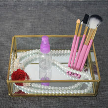 jewelry box necklace jewelry box organizer storage jewelry ring Pendant lipstick makeup display casket(China)