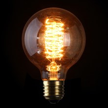 Top Quality E27 G80 60W Filament Light Bulb Vintage Retro Antique Style Edison Lamp Bulb 110/220V