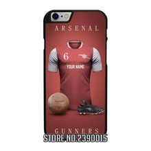 Custom ARSENAL Jersey Cover Case for IPhone 4 4s 5 5s 5c se 6 6s 7 plus Sony Z Z1 Z2 Z3 Z4 Z5 Compact C3 C4 C5 M2 M4 T2 T3 X XA(China)