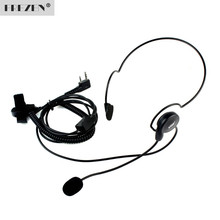 FREZEN 2 Pin Earpiece Mic Finger PTT Headset for Kenwood BAOFENG Radios UV-5R 777 888s  HYT PUXING High Quality