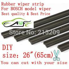 "Free shipping Auto Car Vehicle Insert Rubber strip Wiper Blade (Refill) 6mm Soft 26"" 650mm 10pcs/lot car accessories(China)"