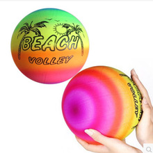 5pcs Inflatable Balls 22CM PVC Beach Ball birthday party decoration Rainbow Volleyball Outdoor Sports Toy Beach Ball baby gifts(China)