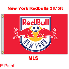 1 piece 144cm*96cm size MLS New York Redbulls (Red Bull New York) Flying flag(China)