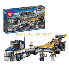Lepin 02025 360Pcs City Series The High Speed Racer Transporter Building Blocks Toys Compatible 60151