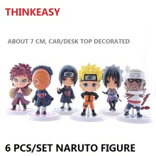 Classic Figurine 7 cm 6pcs/set Naruto PVC Action Figure Toys Full Set Model Collection Cartoon Fans Gift Car Decorated Dolls