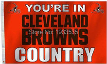 Cleveland Browns COUNTRY New Design 3x5 Flag w/grommets Outdoor House Banner NFL Football(China)