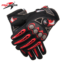 PRO-BIKER ATV Motorcycle Full Finger Gloves Moto Racing Motorbike Motocross Motor Riding Cycling Dirt Bicycle Glvoes Black Red