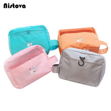 Waterproof Travel Toiletry Storage Pack Polyester Mesh Cosmetic Bag Portable Makeup or Shaving Kit with Hanging Organizer Bag(China)