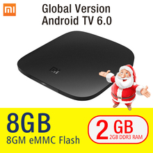 [Christmas Coupons free] Xiaomi Mi TV Box 4K Android 6.0 Media Game Player(China)