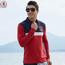 Europe Size New Brand Men's Solid Long Sleeve Polo Shirt Autumn Full Sleeve Warm Shirt Casual Printing Tops Jeans Blue 053(China)