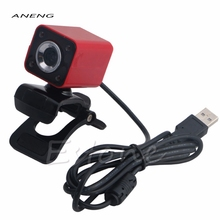 Brand New TOP Quality Red Color USB 2.0 4 LED HD Webcam Web Cam Camera with MIC For Laptop Desktop Computer