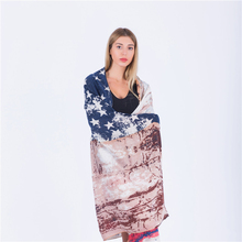 New Fashion High Quality American Flag Scarf Vintage USA Flags Desigual Scarves Pashmina Shawls Long Scarf Chiffon For Men Women(China)