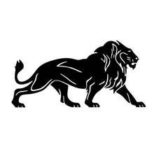 A Pair Of LIONS Personality Reflective Car Sticker Decal Decorative Cover Scratches Sticker Animal Stickers CT-501