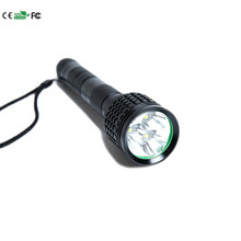 6000Lm 3x XM- T6 LED Flashlight Torch Lamp waterproof for 18650 battery Water sports, outdoor camping Panic buying(China)