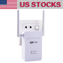 750Mbps Antenna Wifi Repeater Wireless Range Extender 802.11N Booster Signal Amplifier wlan US plug Signa Extend - Interesting box Store store