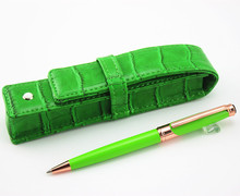 High Quality Luxury  Business Metal Ballpoint Pen and CROCODILE pattern leather bag Office Accessories