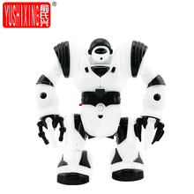 Robot Musical Space Walking Dancing Robot Rotating Dancer Music Light Toys For Children Birthday Gift(China)