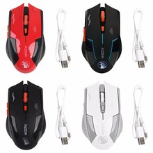 Computer Accessories 2.4GHz 2400 DPI Rechargeable 6 Buttons Optical Pro Gaming Mouse Wireless Mice