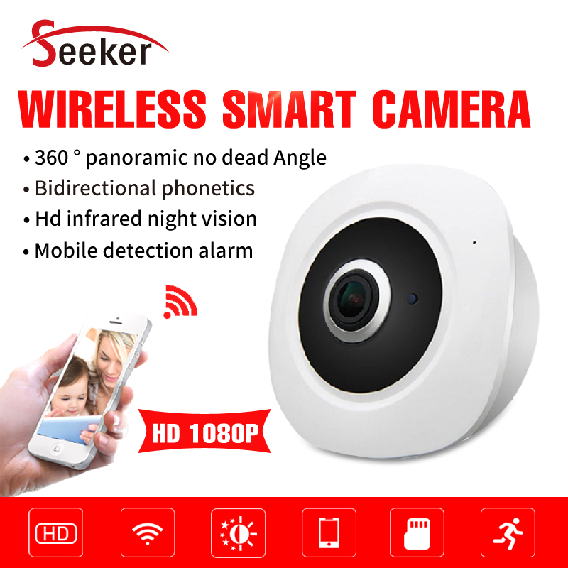 Free Shipping Home Security Baby Monitor Both Wlan and Wifi Wireless Camera 2.0MP Mobile Phone View P2P Cloud 64G TF Card<br>
