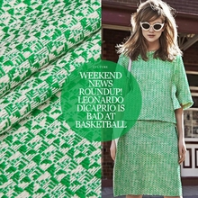 Fashion Fruit Green Chemical fiber Linen Tweed Fabric for Tailor DIY Autumn/Winter Coat/Skirt/Pants