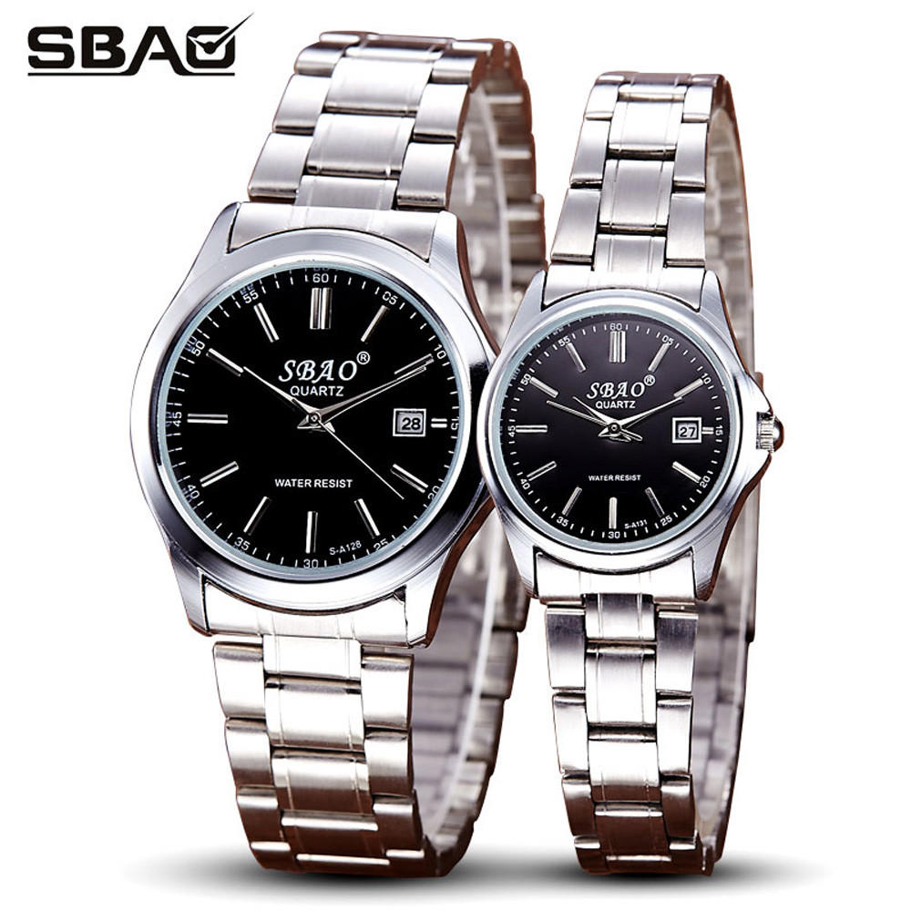 1 pair watches for lovers SBAO luxury brand sliver Series Of High-end Leisure Couples Watches Simple Models fashion clock gift<br><br>Aliexpress