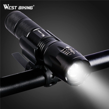 WEST BIKING Bike Focusing Flashlight Rechargeable Cycle LED Flashlight Water Resistant Brightest Torch For Biking Bicycle Light