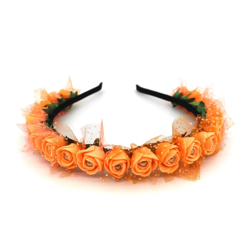 Lanxxy 17 New Fashion Pearl Flowers Hairbands for Girls Women Wedding Bridal Hair Accessories Floral Headbands 12