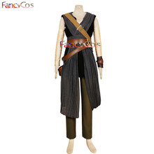 Halloween Star Wars: The Last Jedi Rey Dress Bag Belt Fancy Costume Cosplay Adult High Quality Deluxe High Quality Custom Made(China)