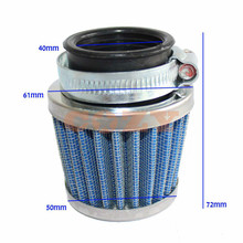 40mm Air Filter Spike intake Cleaner for Honda XR50 CRF 50cc 70cc 80cc 110cc 125cc Pit Bike Scooter Chopper(China)