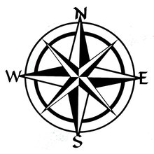 15cm*15cm Car Styling Compass Travel Wanderlust Direction NSWE Car Stickers C5-1956(China)