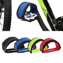 100% new 2Pcs Fixed Gear Fixie BMX Bike Bicycle Anti-slip Double Adhesive Straps Pedal Toe Clip Strap Belt Bicycle Shoe Cover