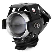 Environmental Friendly 2PCS U5 Motorcycle LED Headlight Laser Cannon Waterproof High Power Spot Light Improve Driving Safety(China)