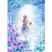 5D DIY Diamond Painting Kit Rhinestone Embroidery Cross Stitch Full Drill Art Home Wall Girl With Blue Lantern 30*40cm Best Gift(China)