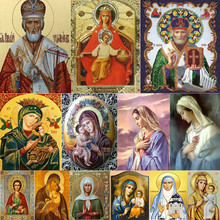 5D DIY Diamond Painting Religious Icon Home Decoration Embroidery Classic Style Rhinestone Painting Diamond Mosaic People Gift