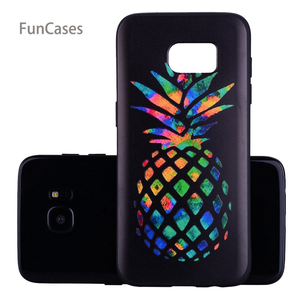 804a94615 Pineapple Relief Case sFor Aksesuar Samsung S7 Edge Soft Silicone Phone  Case Case Relief Case For Samsung Galaxy S7 Edge