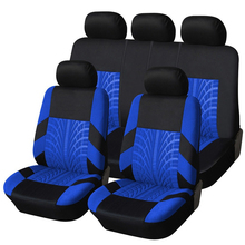 New Polyester Material Racing Car Seat Covers Universal Fit Front Rear Blue line Car Seat Cover Interior Accessories for Honda